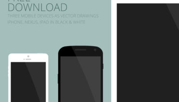 Flat mobile devices - free vector