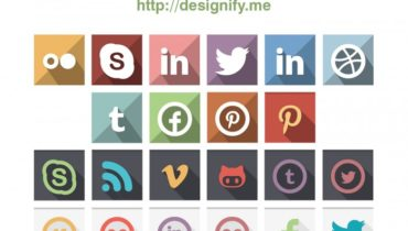 Flat Pastel Social Icons – 22 Colour Sets