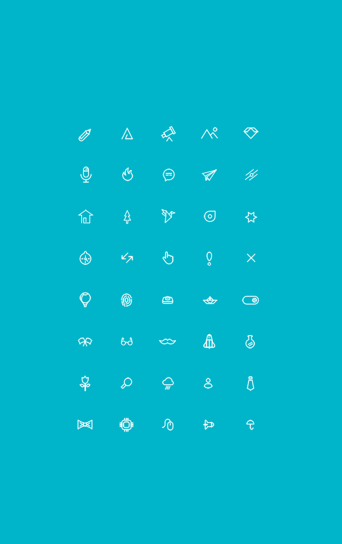 MiniCONS - 40 Free icons (PSD)