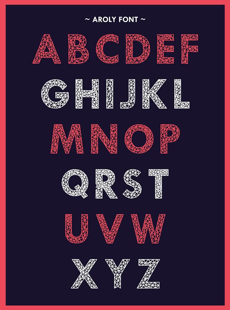 AROLY - Free Polygon Font
