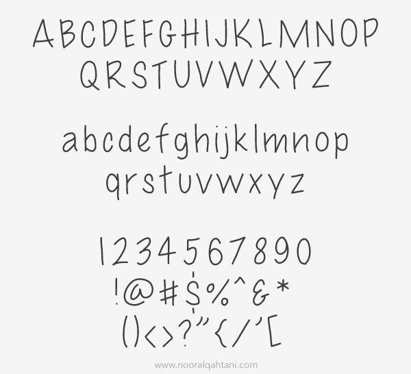 free-hand-written-font
