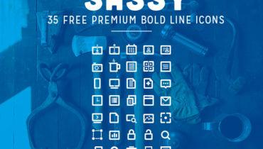 Sassy - 35 Free Premium Bold Line Icons