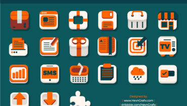 42 Flat iOS Free Icon Set