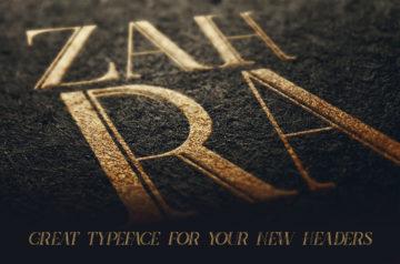 Zahra Inline Grunge Font